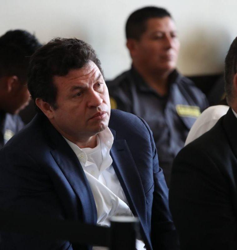 Sergio Roberto López Villatoro, el Rey del Tenis, durante la audiencia de este martes. (Foto Prensa Libre: Paulo Raquec).