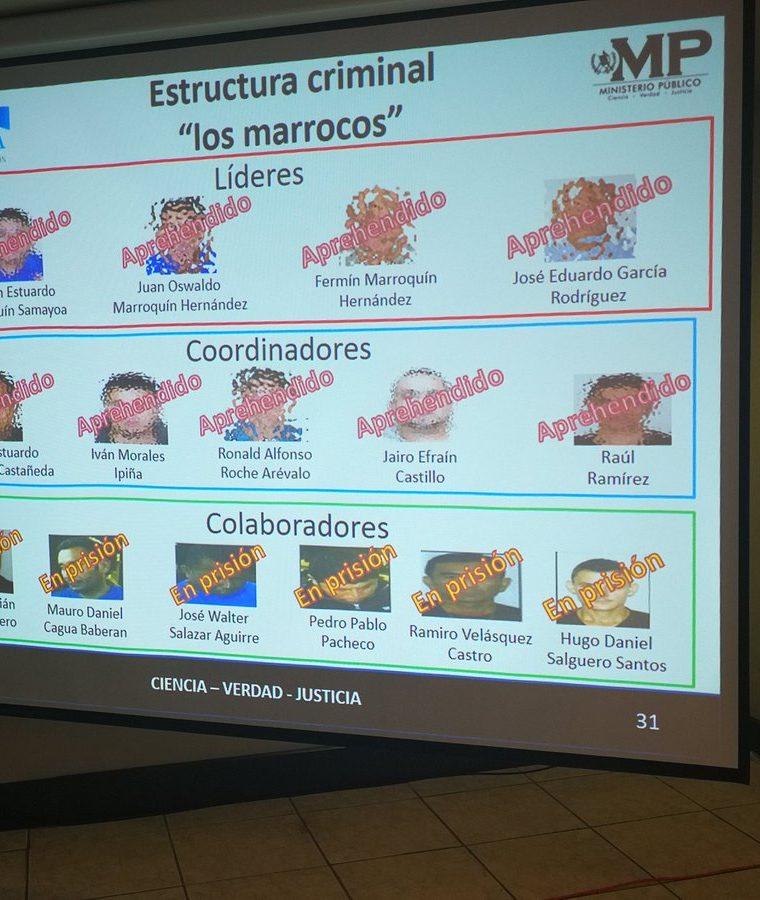 La estructura criminal, integrada por civiles y diez policías. (Foto Prensa Libre: Hemeroteca PL)