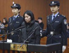 """""""Si mi muerte hiciera que todo volviera a empezar, estaría dispuesta a ser condenada a muerte"""", escribió Mo Huanjing en una carta durante su juicio. GETTY IMAGES"""