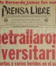 Titular de Prensa Libre del 30 de enero de 1981. (Foto: Hemeroteca PL)