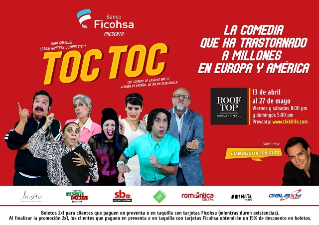 Presentan la obra de teatro Toc Toc en Oakland Mall