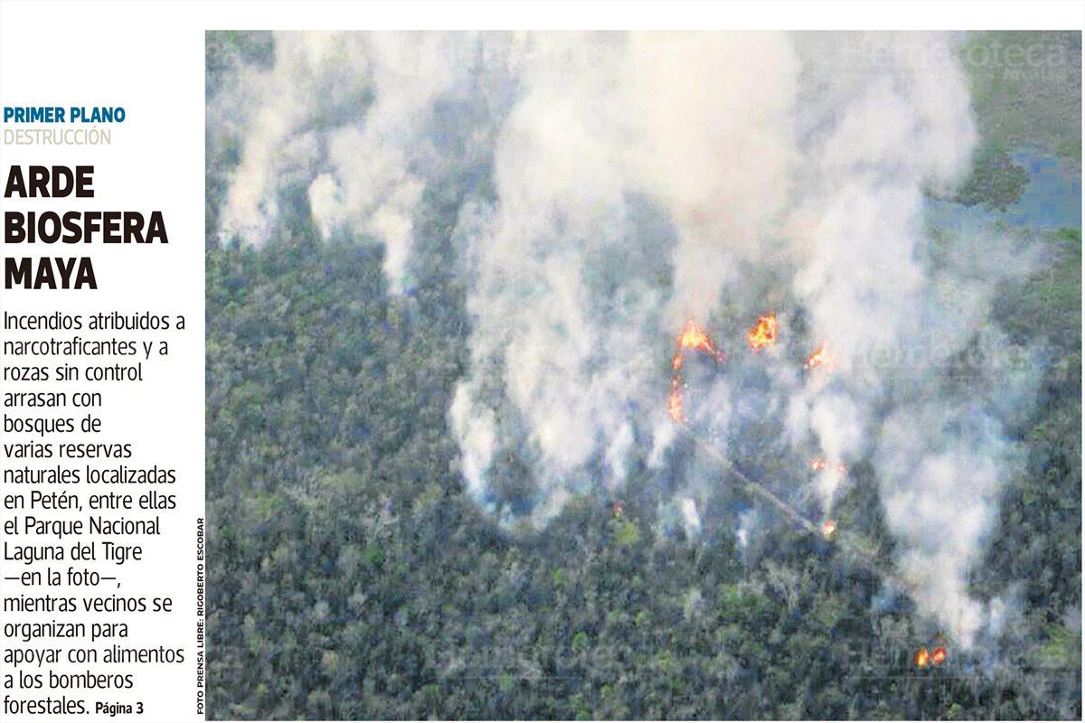 Incendios acaban con Petén