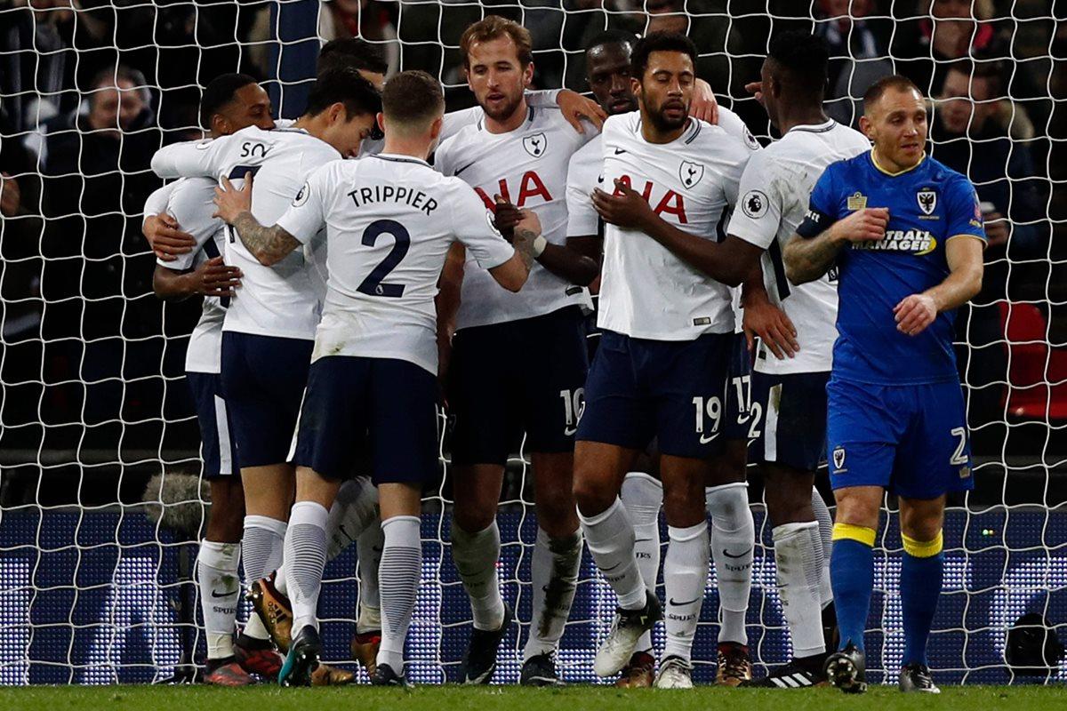 Kane es uno de los jugadores más codiciados en el mercado del futbol. (Foto Prensa Libre: AFP)