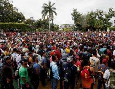 Migrantes hondureños siguen en su lucha por ingresar de forma ilegal a EE. UU. (Foto Prensa Libre: Hemeroteca)