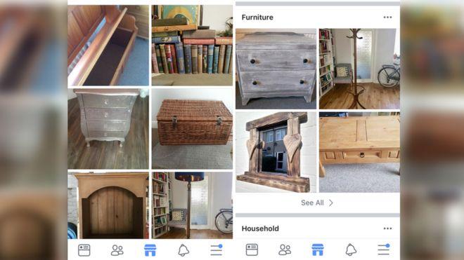 Muchas personas venden sus muebles a través de Facebook Marketplace. FACEBOOK