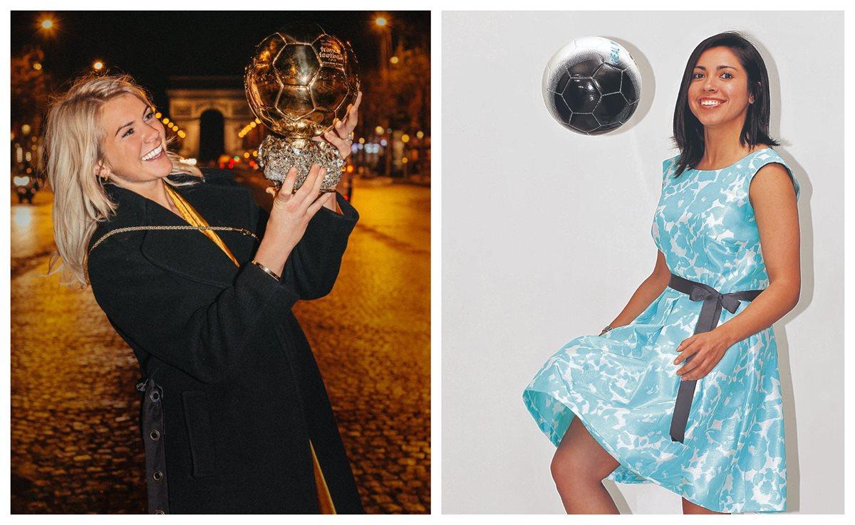 Ada Hegerberg fue protagonista en la gala del Balón de Oro. (Foto Prensa Libre: Instagram y Hemeroteca PL)