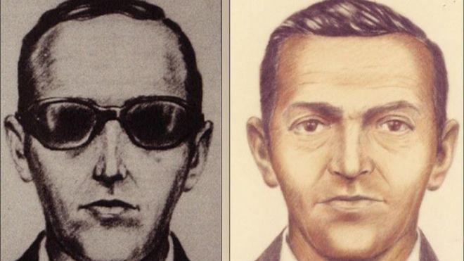 Lo único que quedó de D.B. Cooper fue esta ilustración del FBI, con el objetivo de capturar al ladrón. FBI