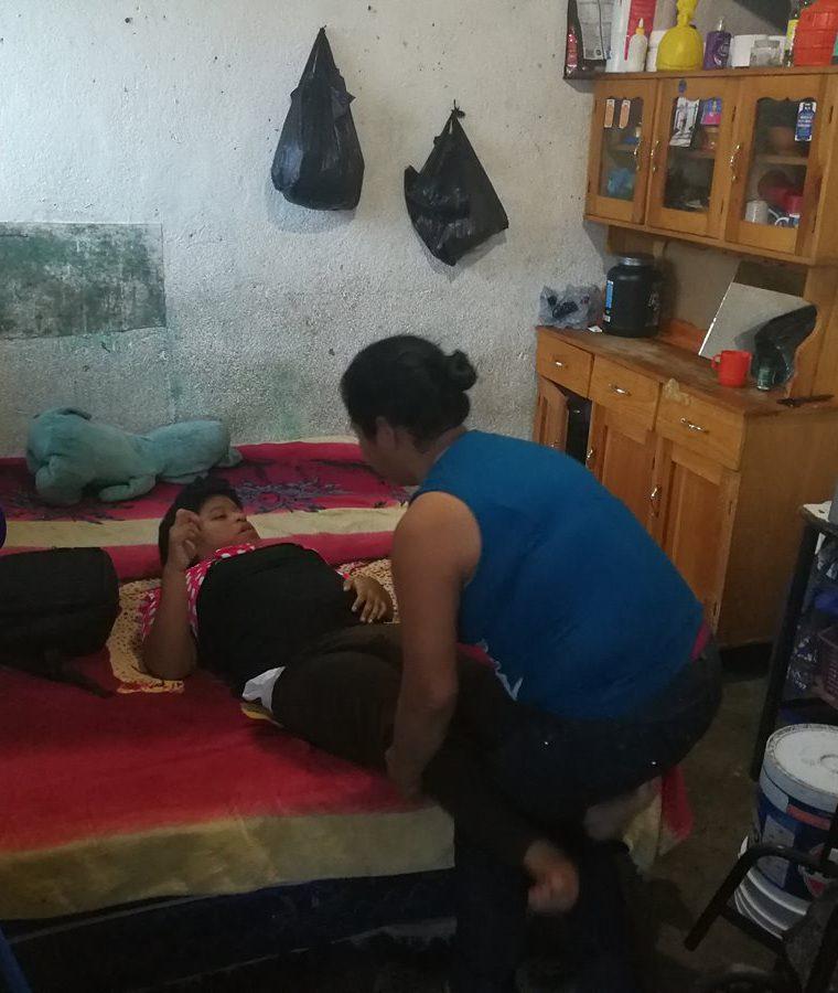 Marina afirma que el amor a sus hijos le da fuerzas. (Foto Prensa Libre: Oscar García).