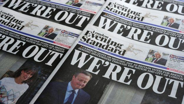 Los británicos votaron a favor de abandonar la Unión Europea el 23 de junio de 2016. AFP