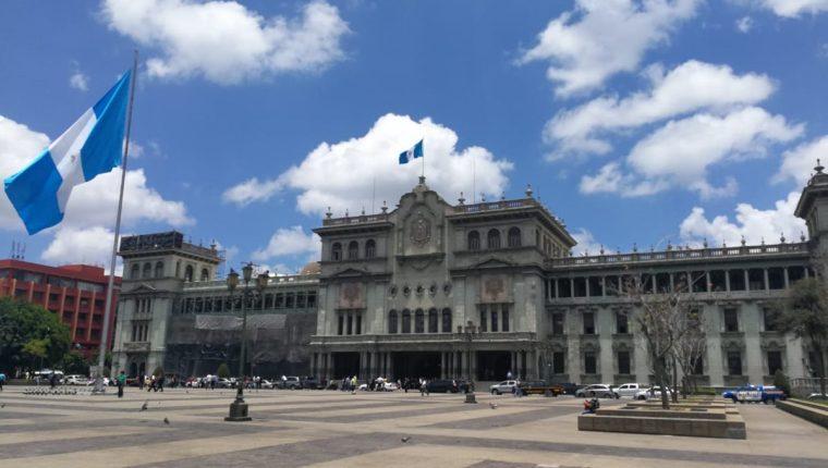 Jimmy Morales anunció la no renovación del mandato de la Cicig en el Palacio Nacional. (Prensa Libre: Juan Diego González)