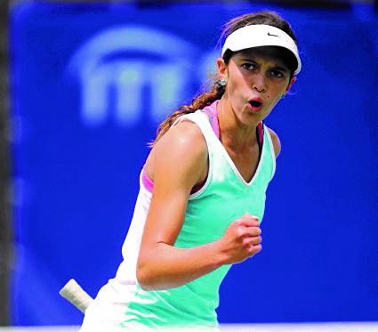 Gabriela Rivera  integra la selección de tenis femenina de Guatemala. (Foto Prensa Libre: Hemeroteca PL)