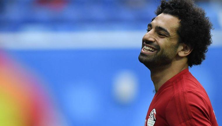 Los egipcios esperan que Mohamed Salah pueda debutar este martes. (Foto Prensa Libre: AFP)