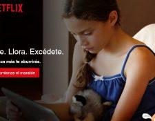 La empresa confía en que aumentará la audiencia. (Foto Prensa Libre: Netflix.com)