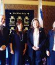 Canciller Sandra Jovel y vicecanciller de Israel, Tzipi Hotovely, luego de una reunión sobre cooperación. (Foto Prensa Libre: Minex)