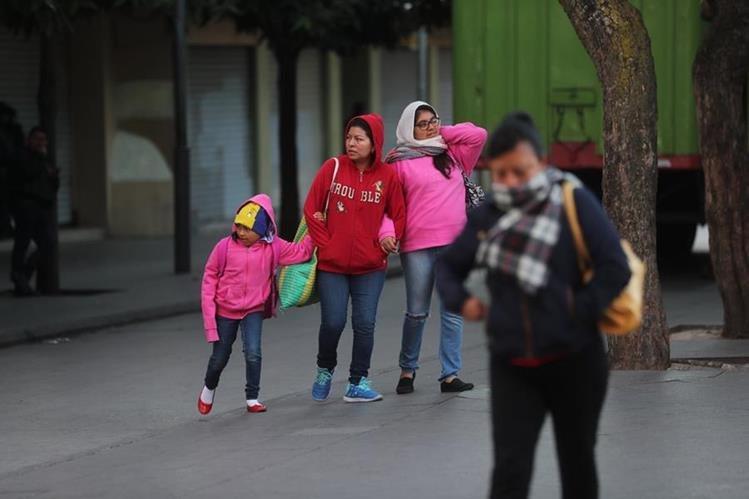 Se prevé el ingreso de un nuevo frente frío al país este jueves y dos más la próxima semana. (Foto Prensa Libre: Hemeroteca PL)