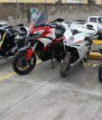 Autoridades decomisaron diez motocicletas vinculadas a Juan Carlos Monzón, las cuales ahora pasaron a favor del Estado. (Foto Prensa Libre: Ministerio Público)