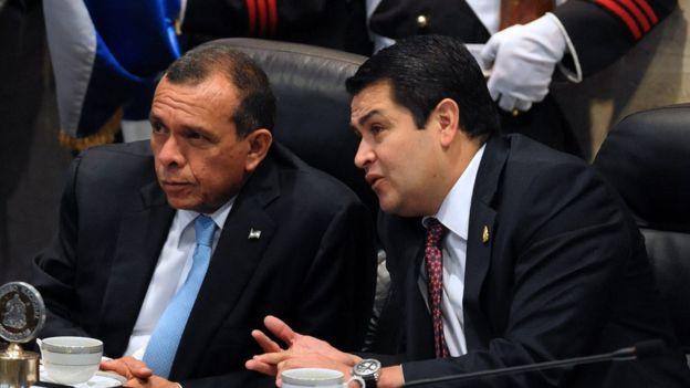 Las leyes sobre las ZEDE se aprobaron bajo la presidencia de Porfirio Lobo, pero con JOH como presidente del congreso. AFP