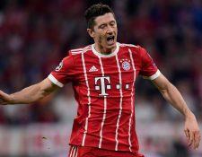 Robert Lewandowski fue criticado por sus constantes fallos contra el Real Madrid, en Múnich. (Foto Prensa Libre: AFP)