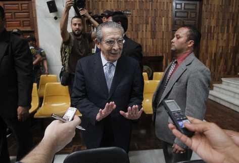 El General retirado Efraín Ríos Montt fue condenado a 80 años, el 10 de mayo del 2013.