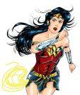 La Mujer Maravilla es una de las primeras superheroínas del mundo del cómic. (Arte Prensa Libre: Kevin Ramírez)