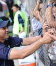 A pesar de los altibajos, Mauricio Tapia le dio el título a Antigua GFC. (Foto Prensa Libre: Francisco Sánchez)
