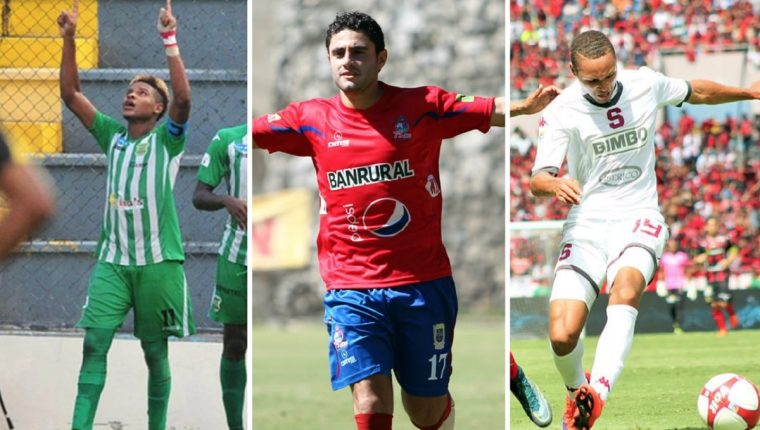 Andrey Francis, Pedro Samayoa e Irving Calderón son los nuevos refuerzos de Municipal para la próxima temporada. (Foto Prensa Libre: Hemeroteca PL)
