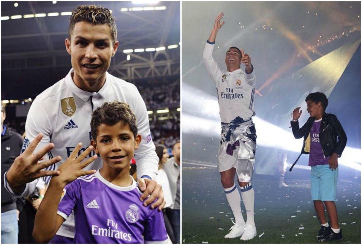 Cristiano Ronaldo relató el momento especial que vivió junto a su hijo Cristiano Jr. en Cardiff. (Foto Prensa Libre: Instagram @Cristiano)