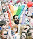 Miles de irlandeses celebraron la legalización del matrimonio homosexual. (Foto Prensa Libre: EFE).