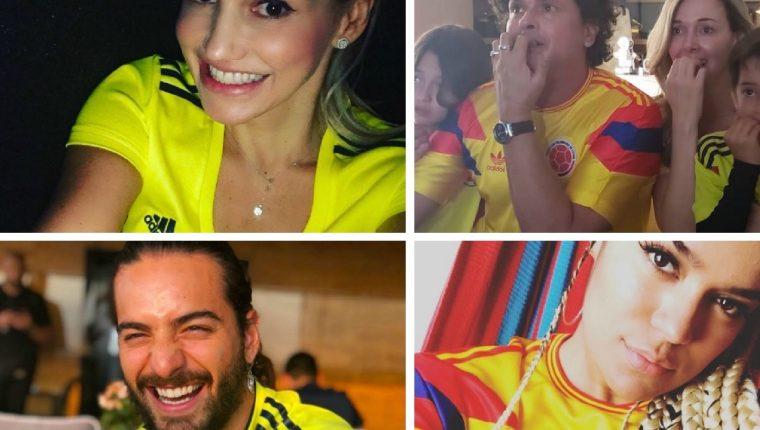 Fanny Lu, Carlos Vives, Maluma y Karol G publicaron estas fotografías en sus cuentas de instagram. (Foto Prensa Libre: redes)