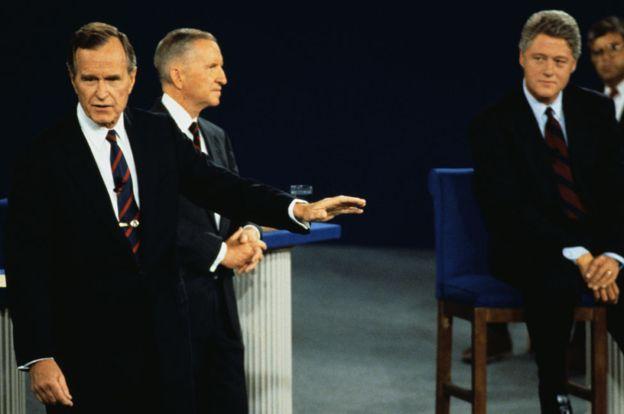Bush perdió la presidencia ante el joven Bill Clinton en 1992. GETTY IMAGES