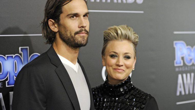 Ryan Sweeting y Kaley Cuoco estuvieron casados desde el 2013. (Foto Prensa Libre: AP)
