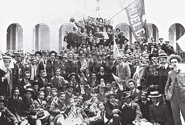 Huelga de Dolores en tiempos de Estrada Cabrera, principios del siglo XX. (Foto: Hemeroteca PL)