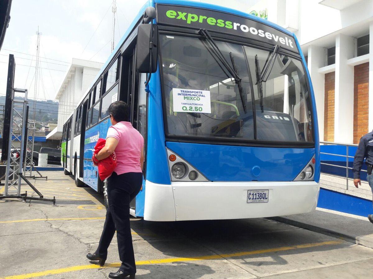 Mixco amplía las rutas exprés con dos nuevas líneas que funcionarán con sistema prepago