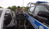 Byron Izquierdo fue capturado el pasado 16 de abril, implicado en la red de defraudación denominado La Línea. (Foto Prensa Libre: Esbin García)
