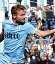 Ciro Immobile anotó en la goleada del Lazio 7-3 frente a la Sampdoria. (Foto Prensa Libre: AFP).
