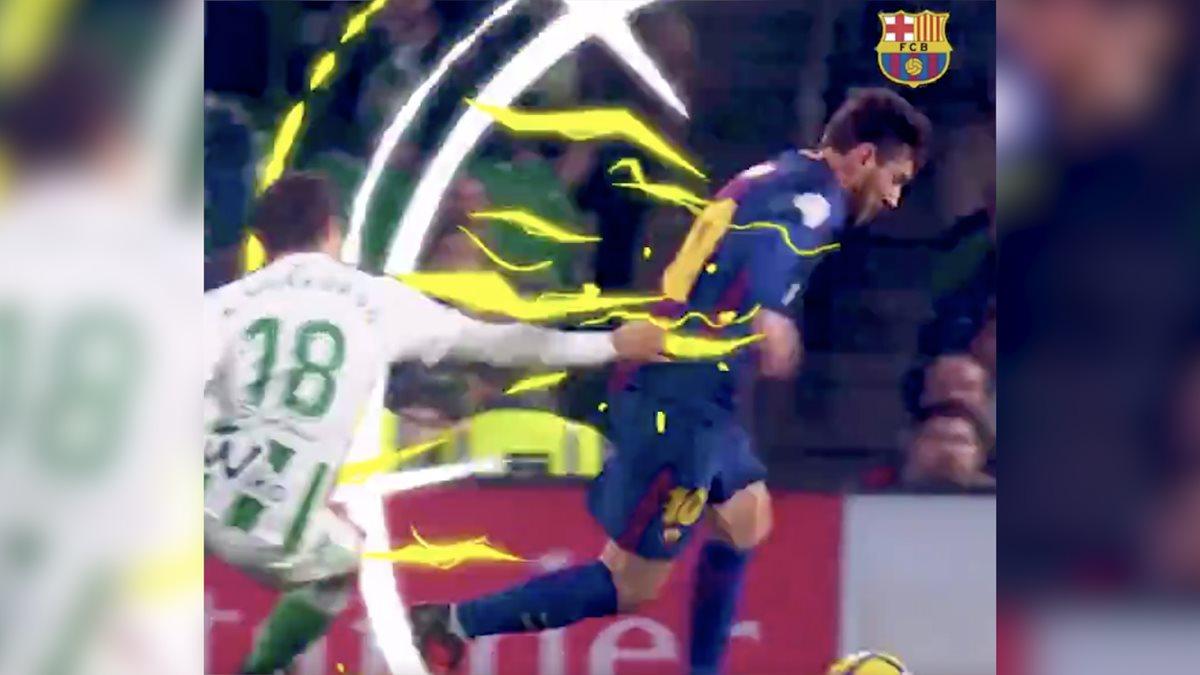 Así muestran a Lionel Messi en la pequeña producción del FC Barcelona. (Foto Prensa Libre: FC Barcelona)