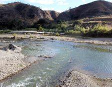 Río Chixoy en Sacapulas, Quiché, en el que se ahogaron las hermanas Gregoria y Cecilia Solís Vásquez, de 15 y 19 años. (Foto Prensa Libre: Óscar Figueroa)