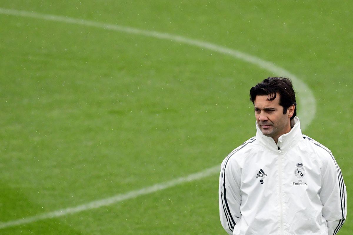 Santiago Solari seguirá al mando del Real Madrid. (Foto Prensa Libre: AFP)