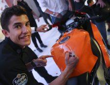 Marc Márquez está motivado y confía aumentar su ventaja el fin de semana en el MotoGP. (Foto Prensa Libre: EFE).