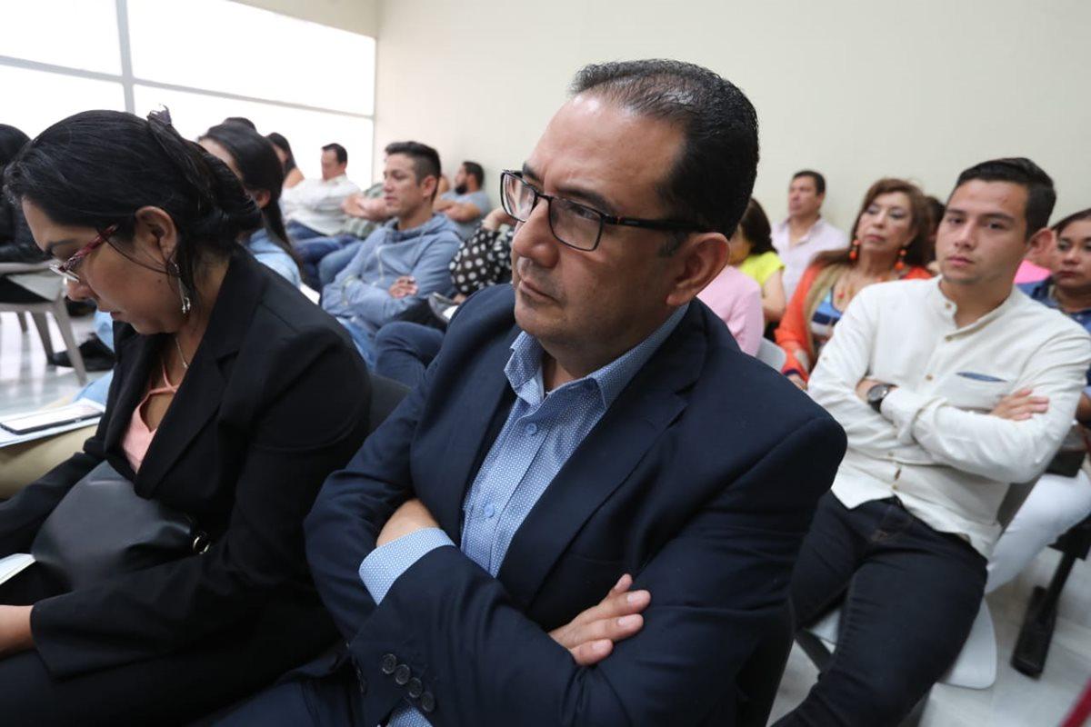 Samuel Morales, hermano del presidente Jimmy Morales, durante el juicio del Caso Botín Registro de la Propiedad. (Foto Prensa Libre: Erick Ávila)