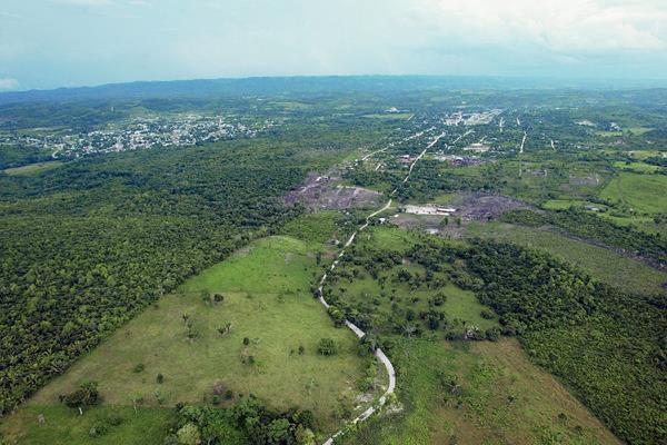 Vista aérea de la Zona de Adyacencia entre Belice y Guatemala. (Foto: Hemeroteca PL)
