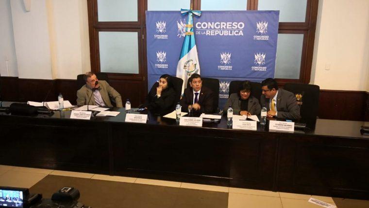 La Comisión Específica presentó este martes las conclusiones de su trabajo. (Foto Prensa Libre: Carlos Álvarez)