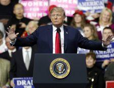 Donald J. Trump, habla durante un mitin de campaña en Atlantic Aviation en Moon Township, Pensilvania, EE. UU. (foto prensa Libre:AFP).