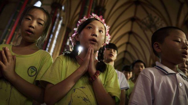 Se estima que hay unos 10 millones de católicos en China. GETTY IMAGES