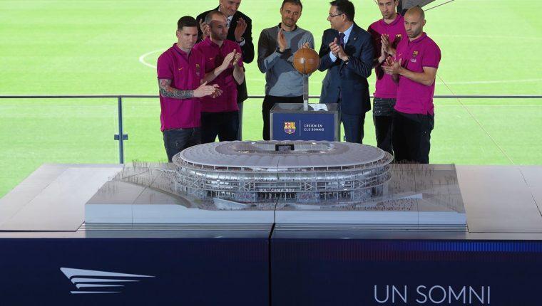 El Espai Barça ha sido la ilusión de muchos en el Barcelona, pero hasta ahora no lo han podido cumplir. (Foto Prensa Libre: AFP)