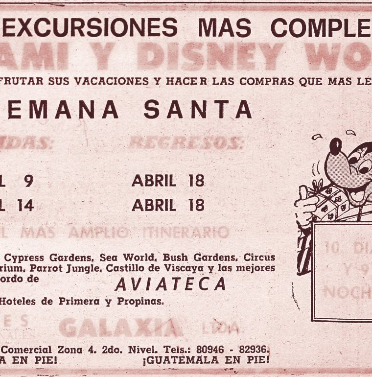 REPRODUCCIONES  DE ANUNCIOS QUE SE PUBLICABAN EN PRENSA LIBRE. (1982).
