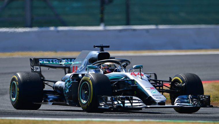 Lewis Hamilton ocupó el segundo lugar en el Gran Premio de Gran Bretaña. (Foto Prensa Libre: AFP)