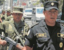 El Ejército de Guatemala apoya a la Policía Nacional Civil en tareas de seguridad ciudadana desde hace varios años. (Foto Prensa Libre: HemerotecaPL)