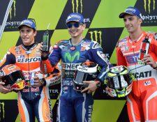 Lorenzo saldrá desde la primera posición el domingo, en Francia. (Foto Prensa Libre: AFP)