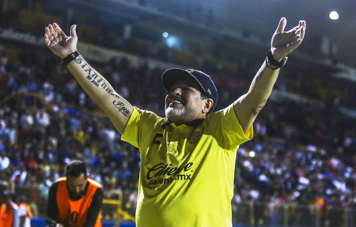 Diego Armando Maradona y Dorados de Sinaloa están en la final. (Foto Prensa Libre: AFP)